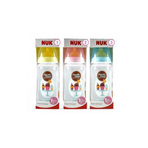 Nuk Cupcake Biberón First Choice Latex Talla 1M 300 ml.