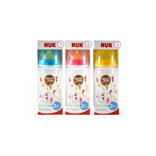 Nuk Cupcake Biberón First Choice Latex Talla 2L 300 ml.