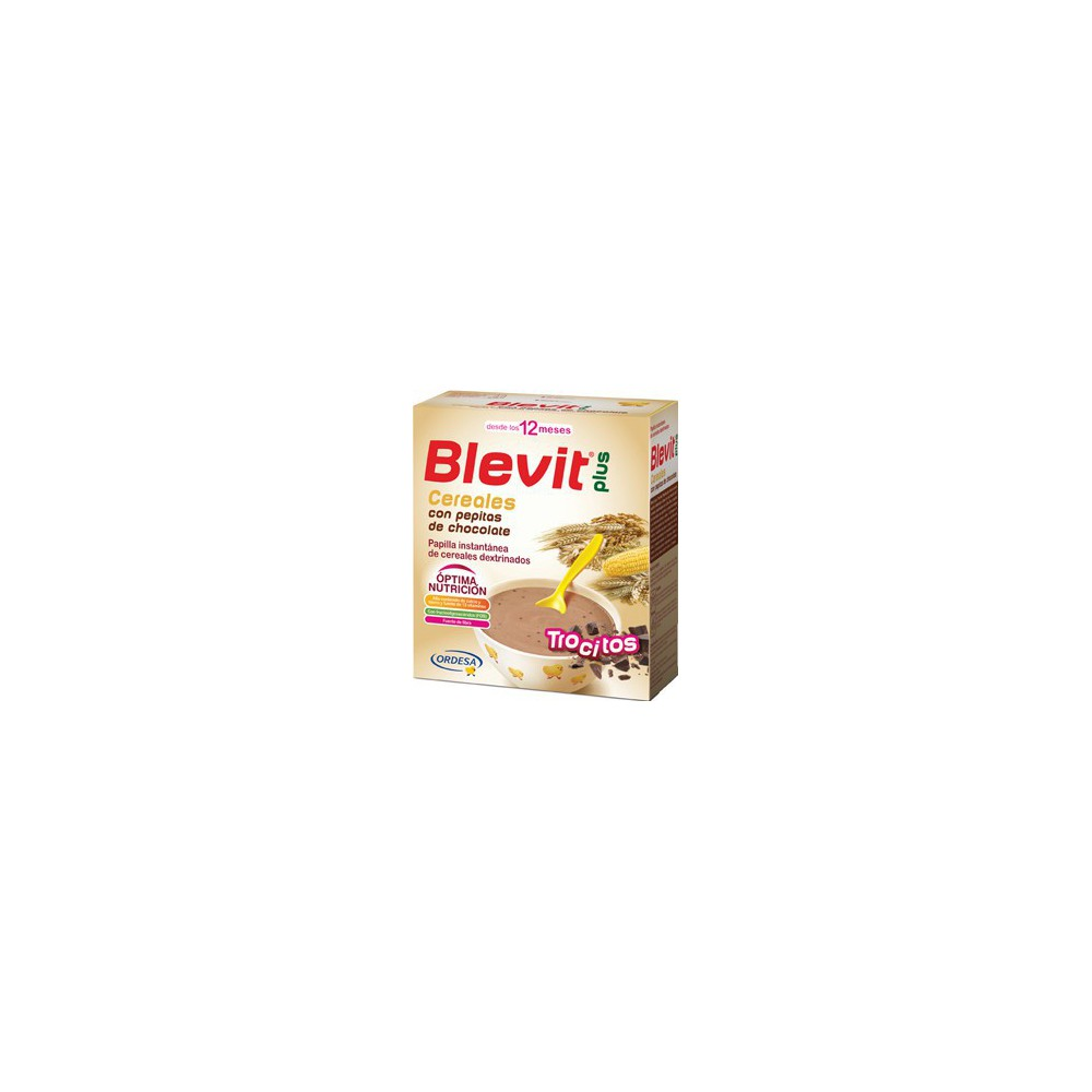 Blevit Plus Trocitos Cereales Pepitas Chocolate 600 gr.
