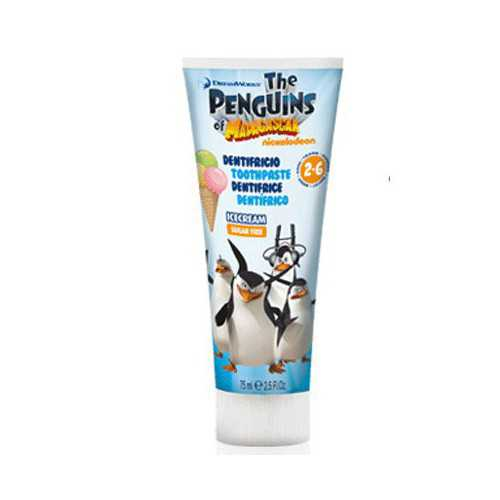 Pasta Dental Infantil Pinguinos de Madagascar 75 ml.