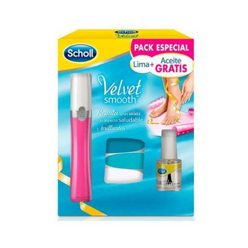Scholl Velvet Smooth Lima Pies Rosa + Aceite