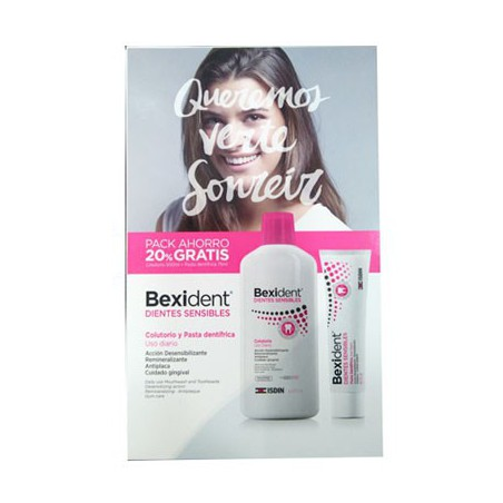 Bexident Dientes Sensibles PACK Pasta+Colutorio 500 ml.