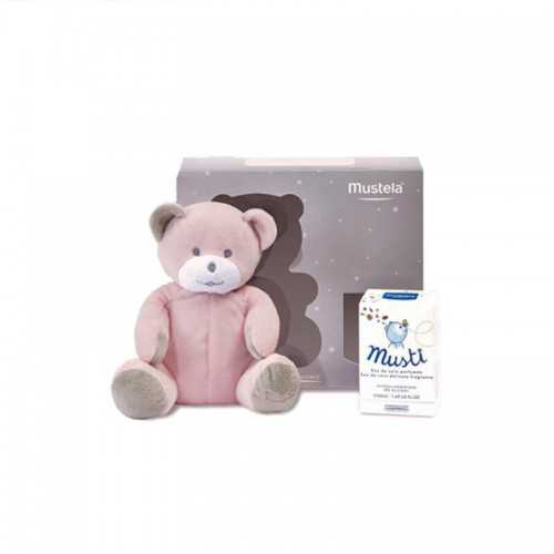 Mustela Pack Musti Colonia + Peluche Oso Rosa