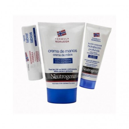 Neutrogena Pack Viaje Crema Manos Concentrada 50 ml + Loción 15 ml + Stick labial