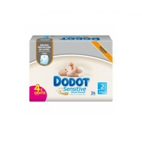 Dodot Sensitive RN T2 4-8 Kg 34 unidades