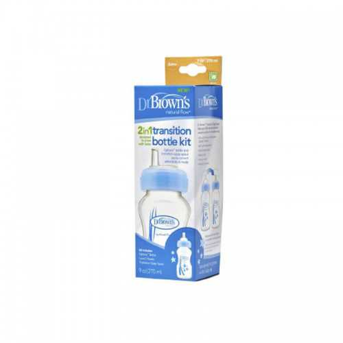 Dr Browns Kit De Transición - Biberón 2 En 1 Azul 270 ml