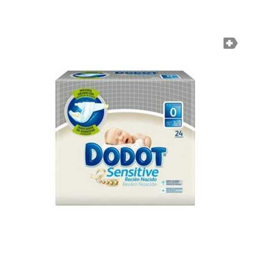 Dodot Sensitive RN T0 0-3 Kg 24 unidades