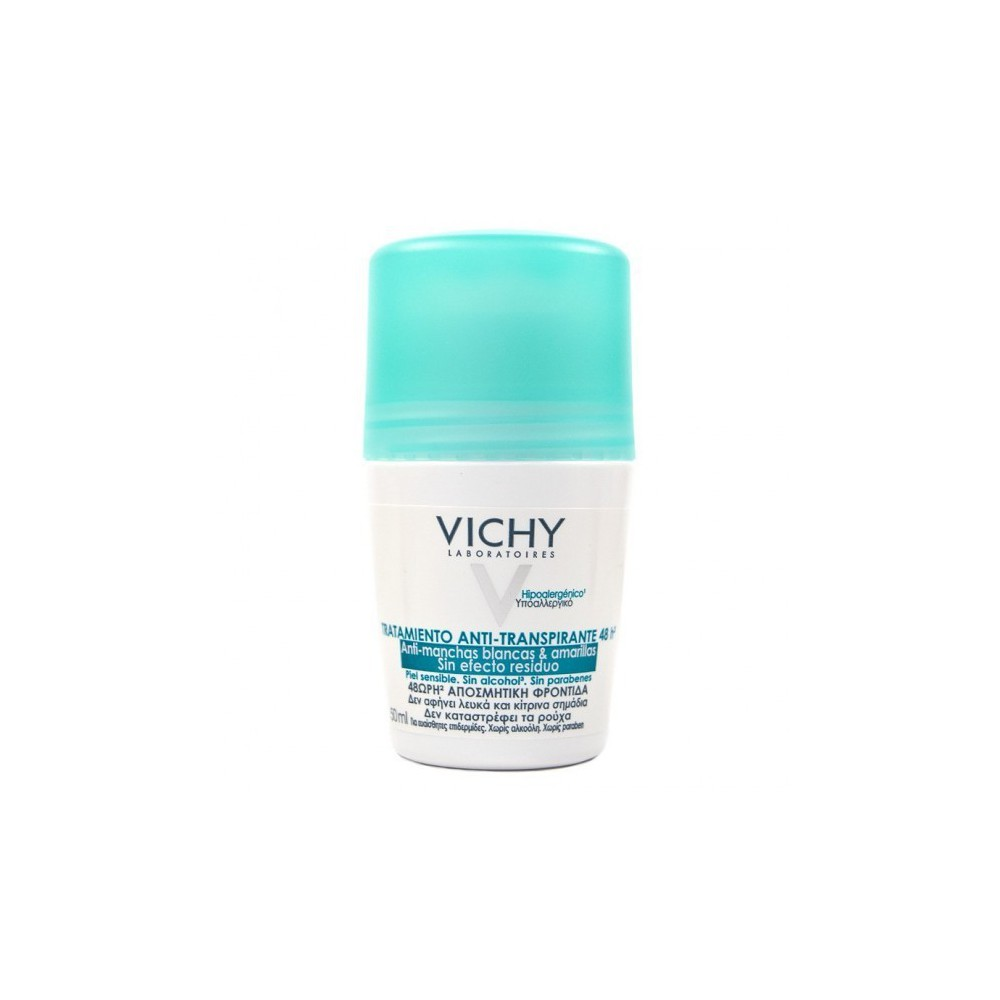 Vichy Desodorante Roll-on Antimanchas 48h 50 ml.