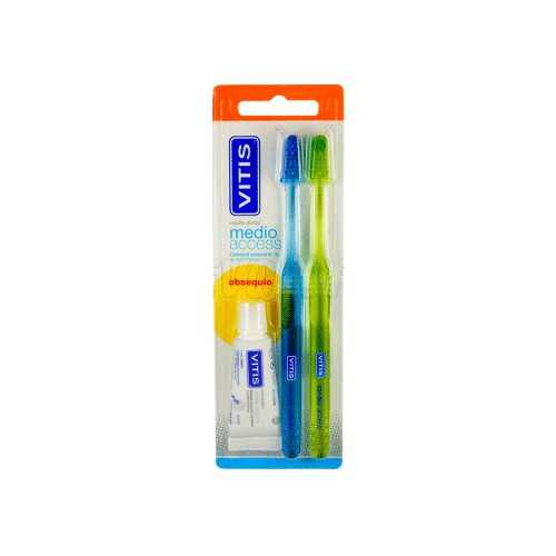Vitis Cepillo Dental Medio Access DUPLO