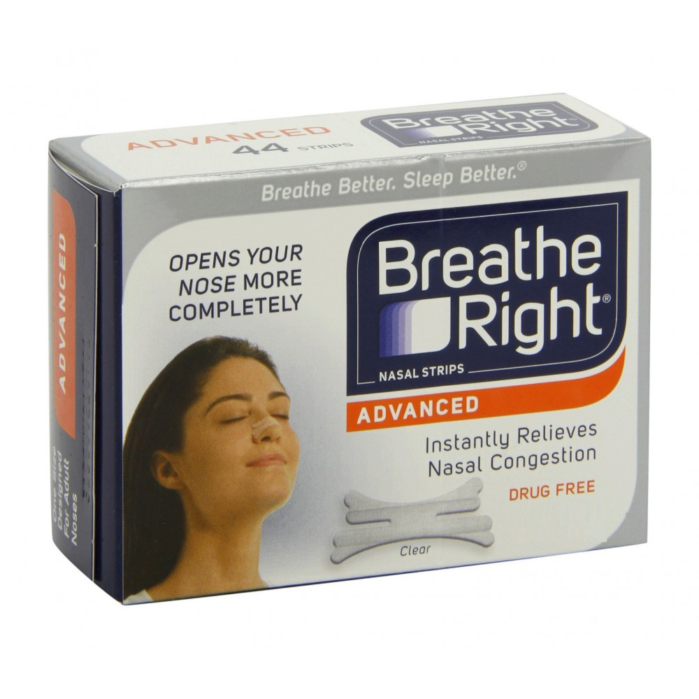 Breathe Right Tiras Nasales Transparentes Grandes 10 Unidades